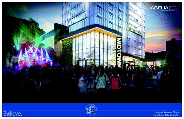 Renderings of the proposed Parcel 5 project