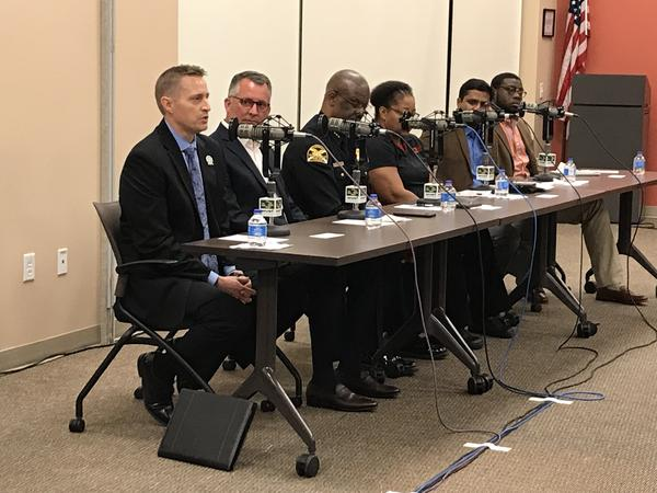 Hillsborough County Schools Superintendent Jeff Eakins speaks on a panel about school safety and gun control.
