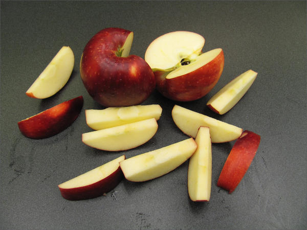 The Cosmic Crisp is a blend of Enterprise and Honeycrisp. It lasts a long time in storage and is juicy, firm and sweet.