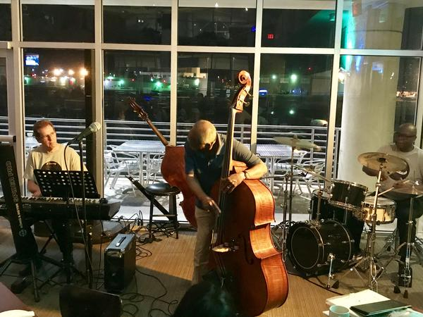 Bassist John Lamb plays with local musicians at the Monday Night Jazz Jam in St. Pete.