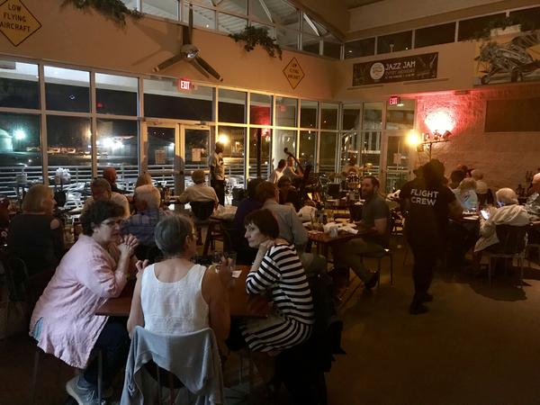 There's barely an empty seat in the house at the Hangar Restaurant and Flight Lounge at Albert Whitted Airport for this recent jazz jam. That's typical most Monday nights now that the jam is weekly.