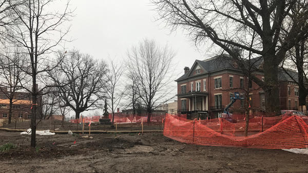 Renovations on the Illinois Executive Mansion continue.