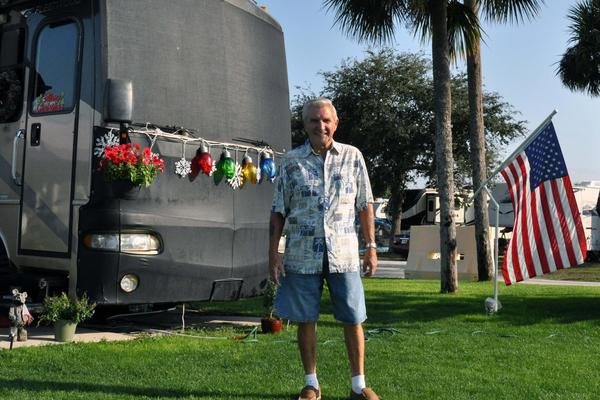 Rhode Island resident Tom Peters regularly vacations at the MacDill Air Force Base RV park.