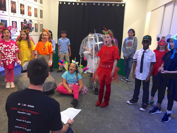 "Students from North Grade Elementary in Lake Worth perform their three-act opera, ""The Adventures of Lola & Friends,"" at the Cultural Council of Palm Beach County in Lake Worth on March 14, 2018."