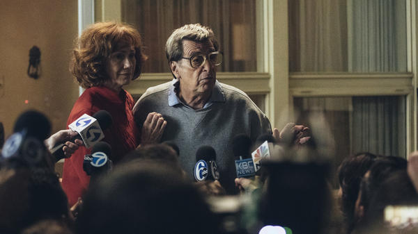 Al Pacino plays Penn State football legend Joe Paterno and Kathy Baker plays his wife, Sue, in the HBO movie <em>Paterno</em>.