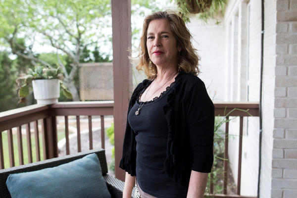 Susan Nelson, author and public speaker on brain injury awareness and gun safety, at her home in Austin, Texas. Nelson survived a point-blank gunshot to the head in 1993.