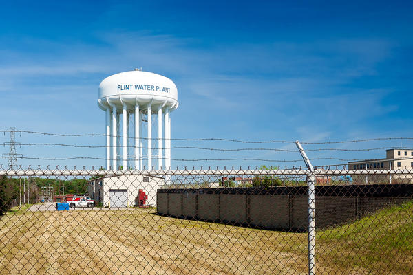 Flint's water plant. Governor Snyder has decided to end distribution of free water bottles to Flint residents.
