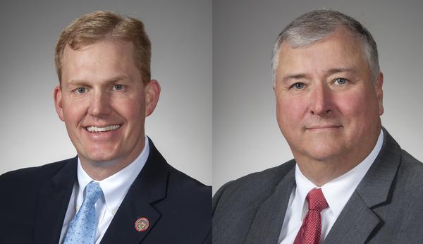 Rep. Ryan Smith (R-Bidwell, left) and Rep. Larry Householder (R-Glenford)