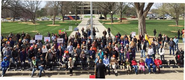About 200 people attended a pro gun rally Friday morning on the south side of the Kansas Statehouse.