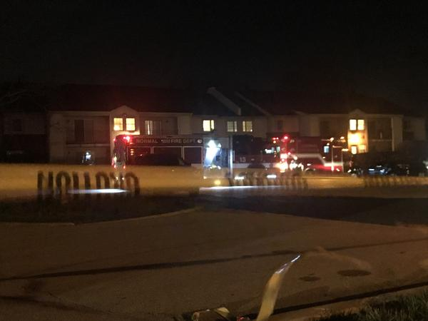 A report of a shooting came in around 9:35 p.m. Wednesday at the Lancaster Heights Apartment Complex in Normal.