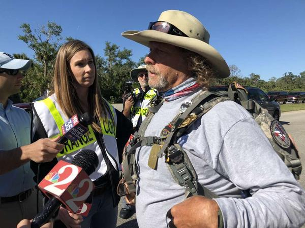 "Tom ""Bull"" Hill is walking from Key West to Tallahassee to raise awareness for cancer."