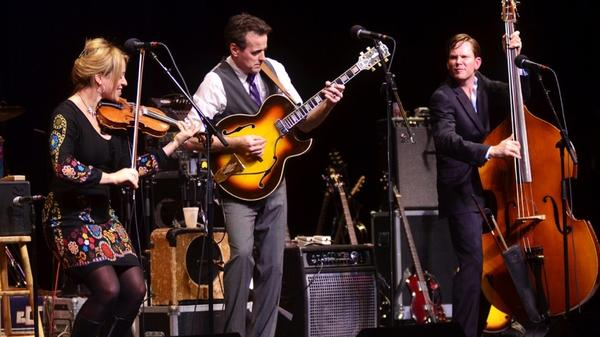 Hot Club of Cowtown performed on <em>Mountain Stage</em>.