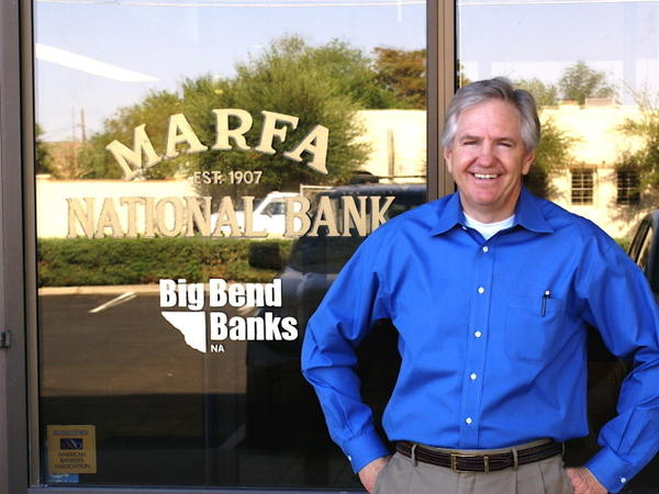 Chip Love, president of the Marfa National Bank, played a victim of Javier Bardem's psychopathic hitman in <em>No Country For Old Men</em>.