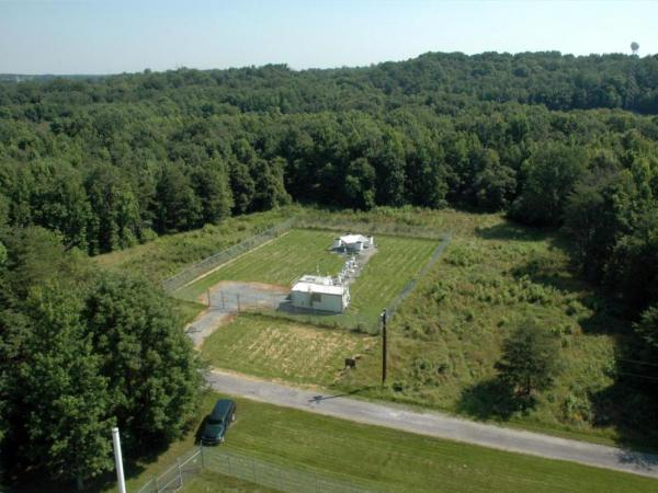 The DISCOVER-AQ aircraft will fly over this ground station in Beltsville, Md., to gather data in an attempt to better understand pollution in the atmosphere.