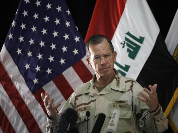 Asked about the looming budget cuts at the Defense Department, Adm. Mike Mullen, outgoing chairman of the Joint Chiefs of Staff, said in Baghdad on Tuesday that everything was on the table.