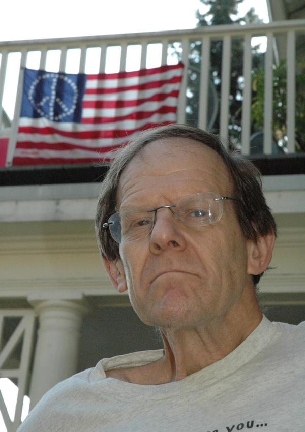 Martin Rosenthal, a parent in Brookline, Mass., says he willingly pledges allegiance to the flag but has filed a measure that  he says would protect public school students from being pressured into saying  the pledge in their classrooms.