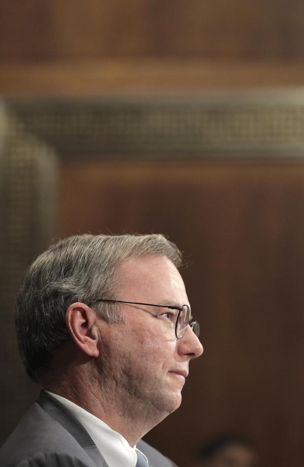 """In the past, Google Chief Eric Schmidt, shown this month, has expressed impatience with Internet anonymity. At the Techonomy conference last year, he said, """"One of the errors that the Internet made a long time ago is that there was not an accurate and non-revocable identity-management service."""""""