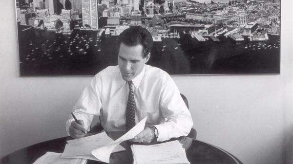 <p>Mitt Romney, shown in 1993, is the former CEO of Bain & Co. In the 1980s, he started an investment fund called Bain Capital. His supporters say that's where he learned to solve big problems, create jobs and expand companies. His opponents say he made money by shutting down factories, occasionally driving companies into bankruptcy. </p>