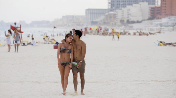 <p>Mexico has launched a publicity blitz to attract more tourists. The vast majority of tourists travel to just one of a half-dozen destinations in Mexico — including Cancun, shown here last year — far from the drug violence.</p>