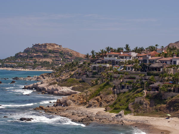 <p>The number of people visiting Mexico — and staying at least one night in places such as Cabo San Lucas, in Baja California state (shown here) — has rebounded this year and is almost at a record level, according to the government. </p>
