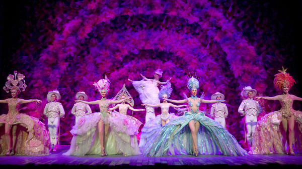 <strong>Where everybody lives to love:</strong> In Act 2 of <em>Follies, </em>what's been a relatively dark story explodes into a riot of color in what's known as the Loveland sequence — an homage to the spectacular Broadway follies staged between the World Wars.