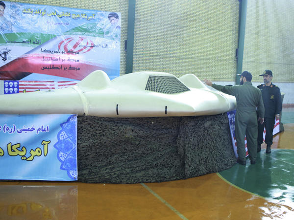 This photo released by Iran's Revolutionary Guards purports to show the U.S. RQ-170 Sentinel drone that went down earlier this month in Iran.