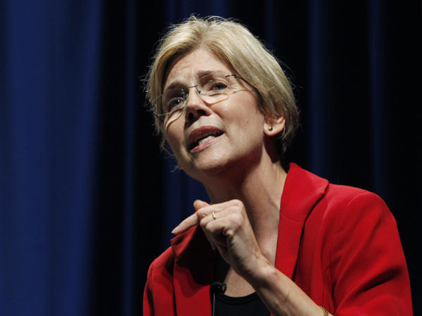 "Elizabeth Warren speaks in October during a debate for the U.S. Senate seat in Massachusetts held by Republican Scott Brown. The race has become a contest of who is the ""real"" populist."