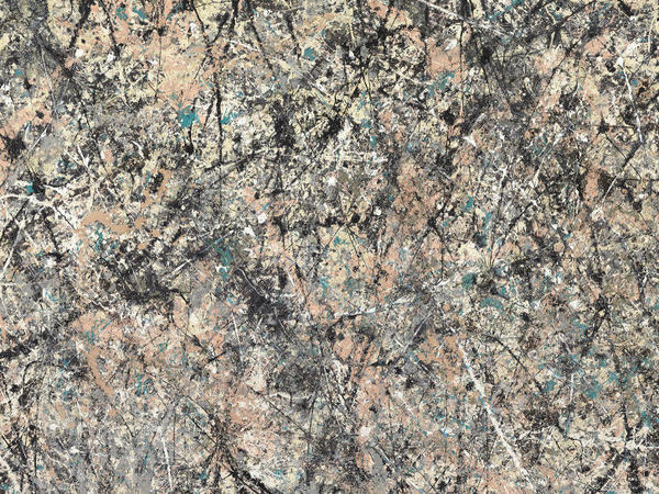 An artist who abandoned all conventions, Pollock used the separation and marbling of the wet paint enamel to create the dripping patterns in<em> Number 1, 1950 (Lavender Mist). </em>