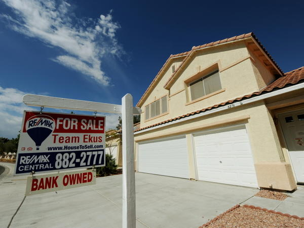 A bank-owned foreclosed home is offered for sale in Las Vegas.