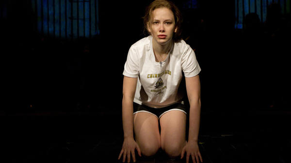 Molly Ranson plays the title role in the off-Broadway reworking of <em>Carrie</em>, directed by Stafford Arima and written by Lawrence D. Cohen, with lyrics by Dean Pitchford and music by Michael Gore.
