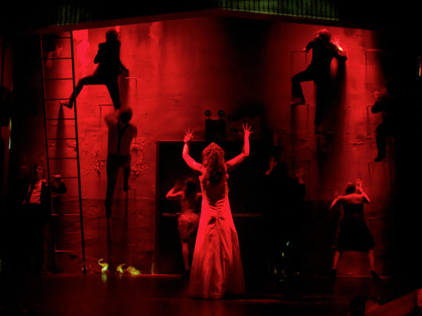 To get around some of the special effects-heavy aspects of <em>Carrie</em>'s supernatural story, the production employs several more theater-specific strategies.