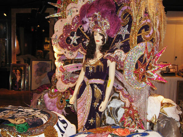Elaborate costumes that are part of New Orleans' traditional Mardi Gras celebrations are up for auction.