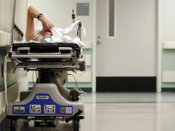 A patient waits for a room to open up in the emergency room of Houston's Ben Taub General Hospital on July 27, 2009. Nationwide, Texas has the highest rate of uninsured residents.