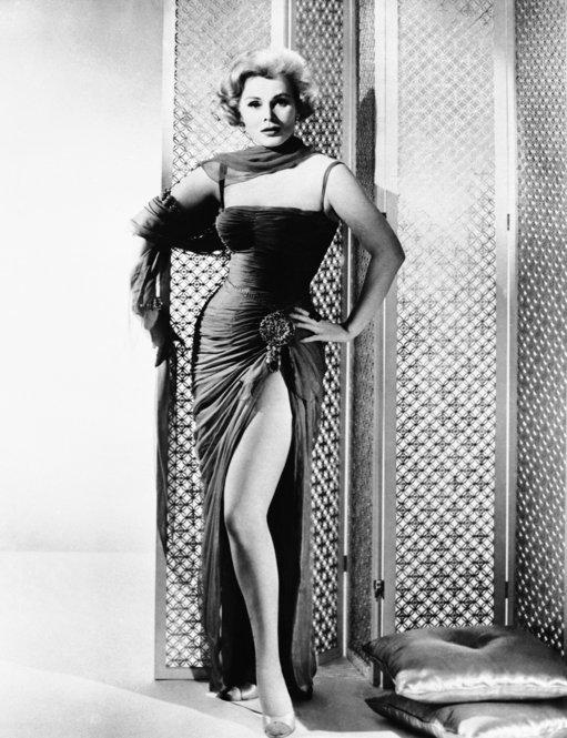 Gabor is dressed for her role in the 1958 science-fiction drama <i>Queen of Outer Space.</i>