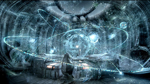 There's plenty of starfield action going on in <em>Prometheus</em>.