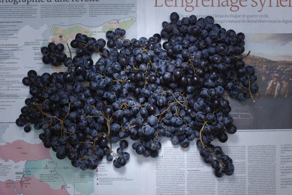 <strong>France:</strong> 5.60 euros, or $7.45 U.S., of French grapes.