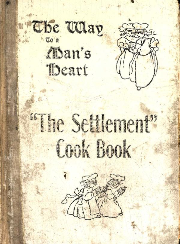 <em>The Settlement Cook Book: Containing Many Recipes Used In Settlement Cooking Classes, The Milwaukee Public School Cooking Centers and Gathered From Various Other Reliable Sources.</em> This 1901 cookbook began as a fundraiser for the Jewish Settlement House in Milwaukee, Wisconsin. Through multiple printings over 75 years, this cookbook benefited many Milwaukee charities.