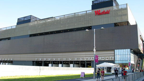 <strong>Big, But Not Big On Doors:</strong> The Westfield Stratford City Mall is an integral part of the Olympic Park area. But the mall's mammoth size can make it tough to find a way out.