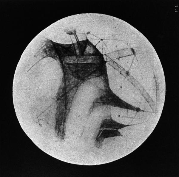"""Percival Lowell's drawings of """"canals"""" on Mars."""