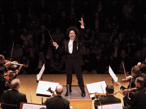 Conductor Gustavo Dudamel and the Los Angeles Philharmonic.