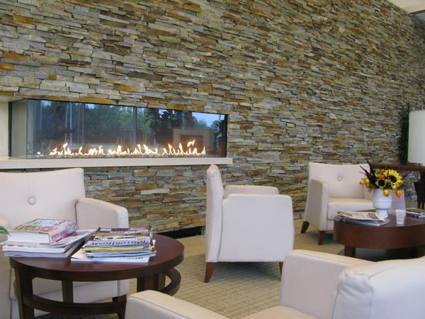 The ProCure Proton Therapy Center has a luxurious lobby that's more country club than cancer clinic.