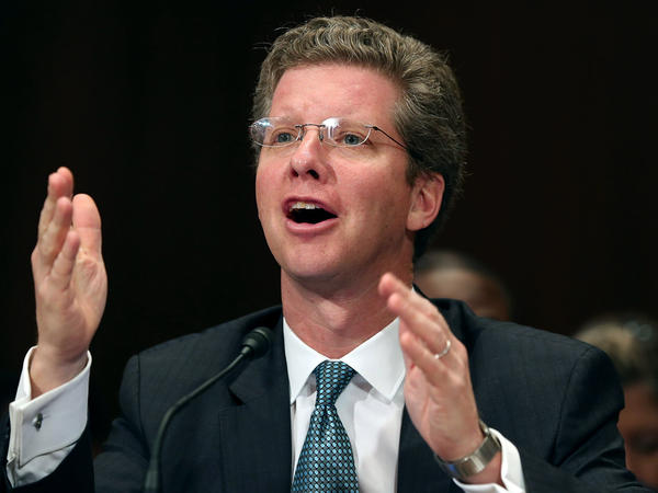 Housing and Urban Development Secretary Shaun Donovan testifies about the damage caused by Hurricane Sandy during a Senate Appropriations Committee hearing Wednesday in Washington, D.C.