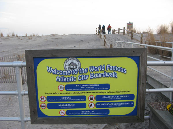 Rumors of the demise of Atlantic City's boardwalk were greatly exaggerated — only a small part was damaged. Now city and tourism officials are trying to draw people back.