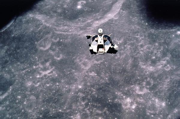 Apollo 17's lunar module rendezvous with the command module.