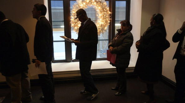 The line at a job fair earlier this month in Manhattan.