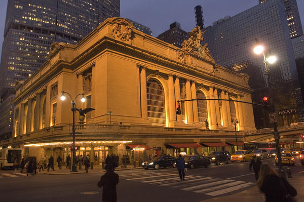 """""""Grand Central Terminal was the first building ever saved under [the landmarks] conservancy act,"""" explains tour guide Daniel Brucker."""