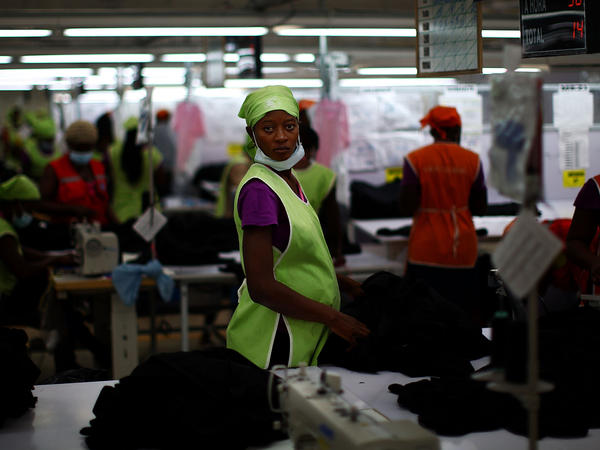 Workers at the SAE-A textile plant inside the Caracol Industrial Park in northern Haiti. Backers of the project say it could create 60,000 jobs inside the park.