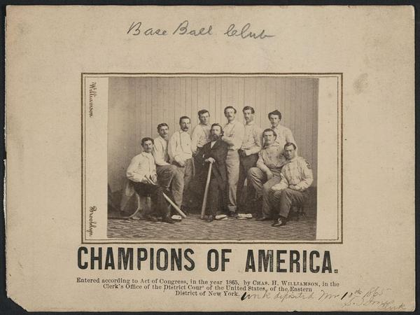 Game On Rare 1865 Baseball Card Sold For 80000 New