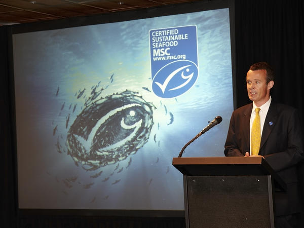 """Rupert Howes is CEO of the Marine Stewardship Council. """"We want to see the global oceans transformed onto a sustainable basis,"""" he tells NPR."""