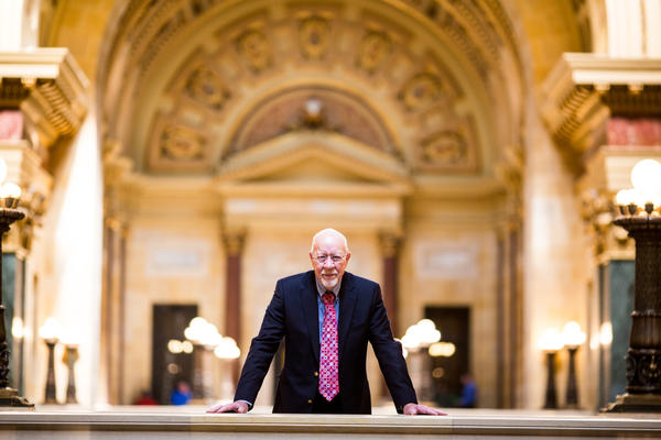 Wisconsin state Sen. Fred Risser, 85, at the state Capitol. He has been representing the city of Madison since 1956.